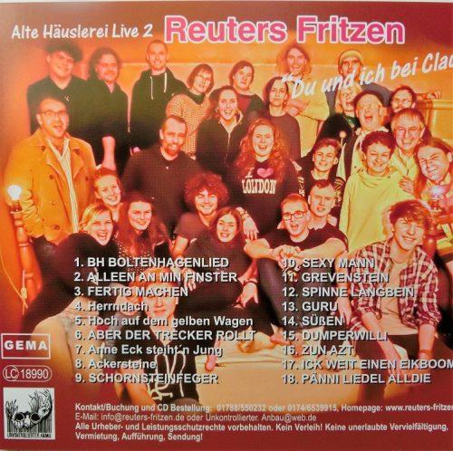Alte Häuslerei Live 2 Rück